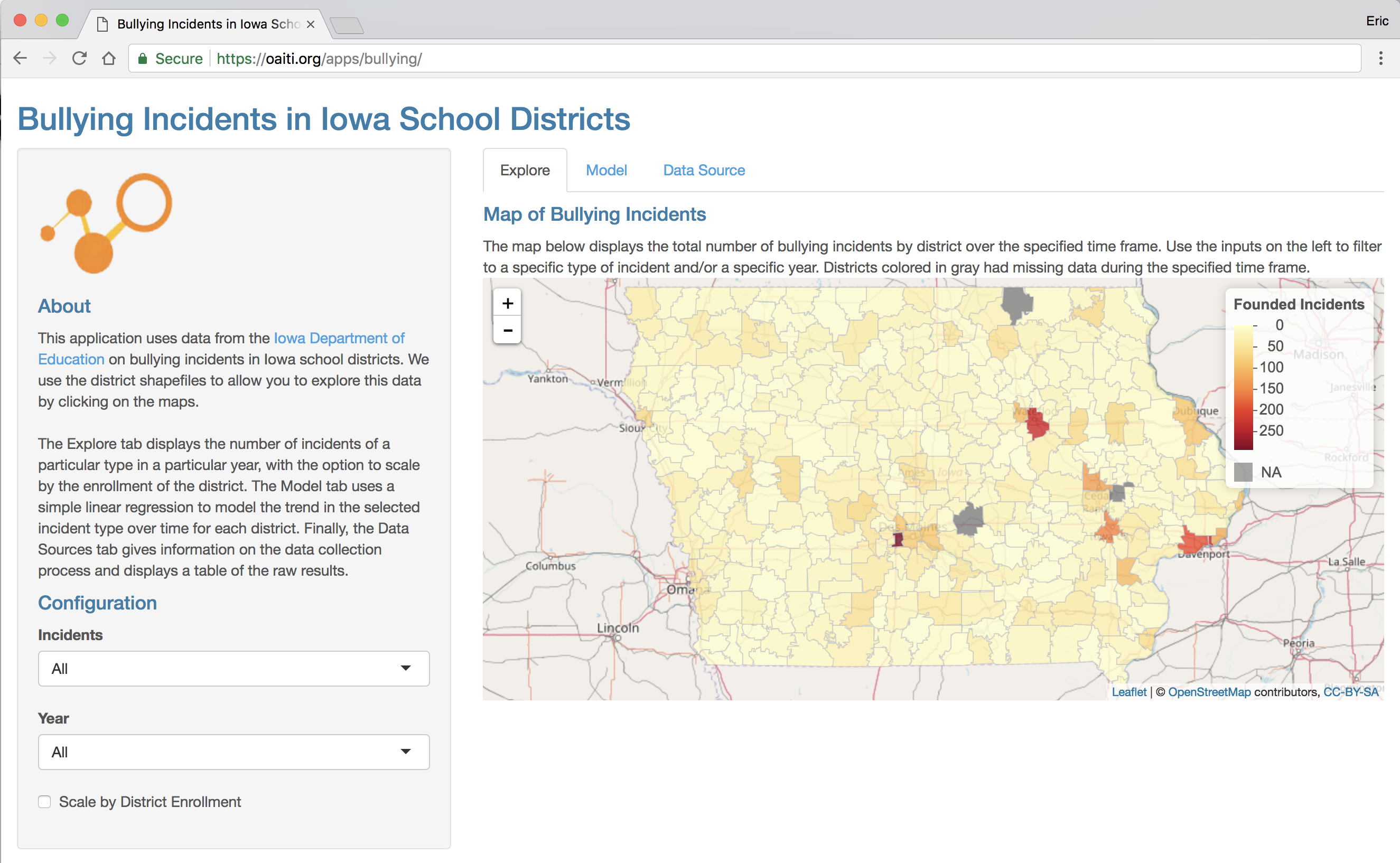 Reported Bullying Incidents in Iowa School Districts - Omni ...